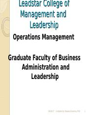 Operations Management Ppt
