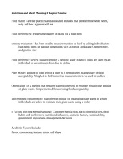 Nutrition and Menu Planning Chapter 7