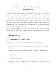 Lecture 3 Notes. Shadow Banking System