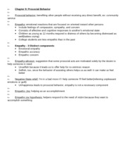 APSY270 Chapter 9 Review Sheet