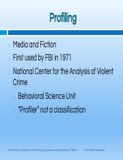 Final Paper Criminal Behavior - RUNNING HEAD CRIMINAL