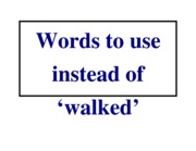 other_words_for_walked