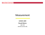 COMS309Measurement