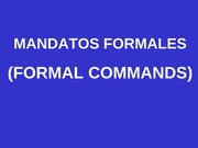 Ch10 Formal Command Notes