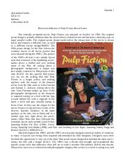 Historical Influence of Pulp Fiction Movie Poster.docx