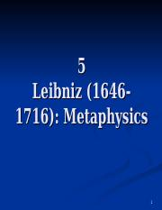 4 Leibniz Metaphysics.ppt