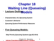 Chapter 18 - Queueing System (1)