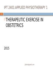 THERAPUTIC EXERCISES IN OBSTESTRICS 2015-1.pptx
