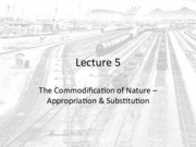 Lecture 5 - The Commodification of Nature II