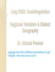 2019 - Week 3 - Class 1 - Regional Variation and Dialect Geography - slides for upload.pdf