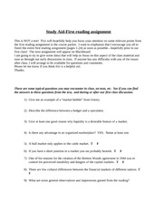 1st Course Pack Section Study Guide