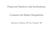 Lecture 19 - Regulation of commercial banks