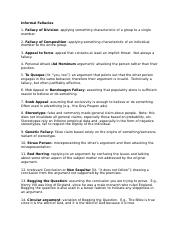 Informal Fallacies revised 8 25 17 PRINT.docx