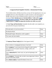 Pamphlet Revision Checklist