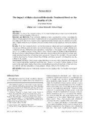 1 The Impact of Malocclusion-orthodontic treatment needs on quality of life