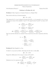 Physics 8.044 Pset 4 Solutions