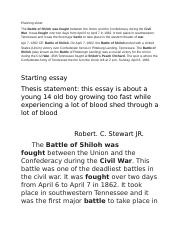 Battle of shiloh essay cheap blog editor for hire usa