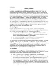 ENGL 1317 Counter-Argument Handout