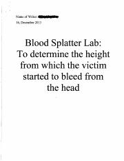 1.1.6 Blood Spatter Lab Report - Example (1)