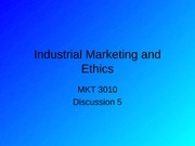 5Industrial Marketing and Ethics-1