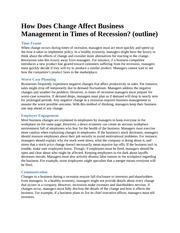 How Does Change Affect Business Management in Times of Recession