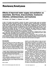 Esrey et al - Effects of improved water supply and sanitation on ascariasis diarrhoea etc