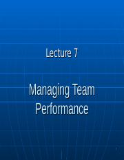 BUS20305 Lecture 7 Team Performance.ppt