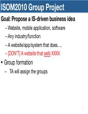 Group Project Overview