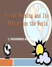 Global Warming ALRASYIDDIN presntation 1 (1)