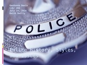 Police History, Styles, and Issues