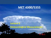 Lecture 3 on Meteorological Measurements