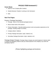PKG101_HOMEWORK_II_Assignment