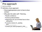 pre approach definition