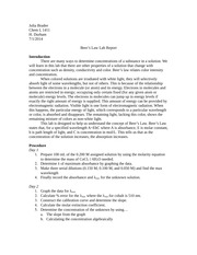 Related Post of Beers law report