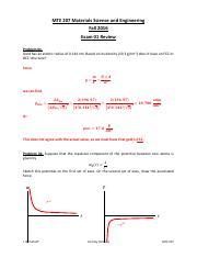 MTE 207 Exam 01 Review Solutions