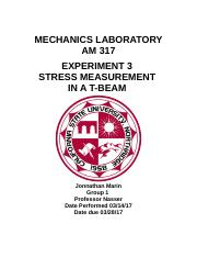Experiment 3 Bending Stress in a Beam (1).docx
