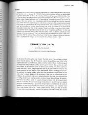 Panopticism – Foucault - Panopticism Foucault Each street is ...