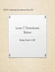 Lecture 17-Thermodynamic relations