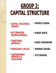 FIN MNGT GROUP 2 CAPITAL STRUCTURE.ppt