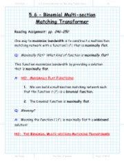 section_5_6_Binomial_Multisection_Matching_Transformer_lecture