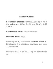 Stat 870 Markov Chain Notes
