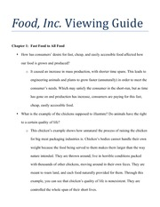 Food Inc Guide