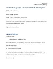 4 Pages Informative Speech Full Sentence Outline Template Final (LADI COKER)