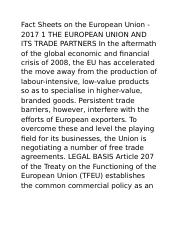 Fact Sheets on the European Union (Page 1-2)