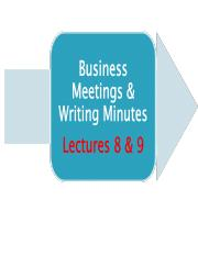 Lecture 8 & 9 on Attending meetings.ppt