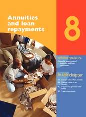 Chap08 - Annuities and loan repayments