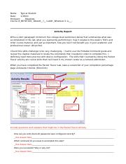 Example Completed Packet Tracer Report