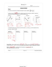 PHYS 11 Constant Motion Worksheet Solutions