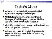 Lecture - Hum. Therapy