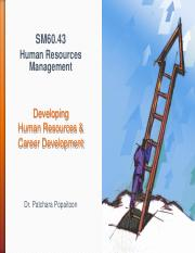 Handout Session 7 Developing Human Resources & Career Development